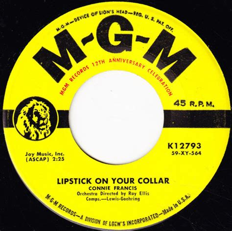 Connie Francis - Lipstick On Your Collar / Frankie (1959
